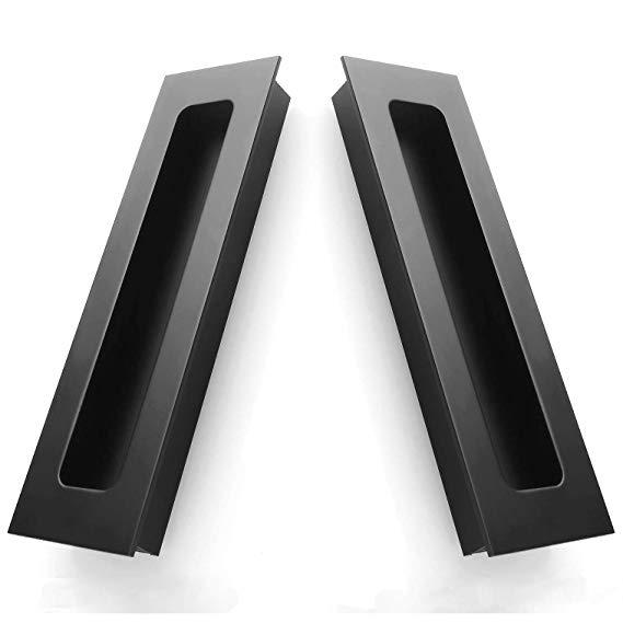 2 Packs Finger Pulls Abuff Sliding Door Flush Pull Recessed Flush Handles With Hidden Concealed Screws For Cabinets C Sliding Doors Closet Door Handles Flush