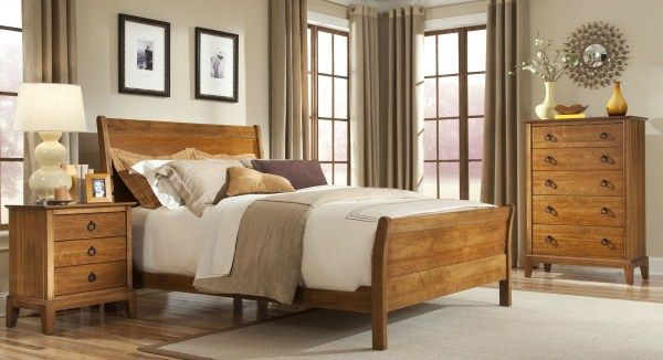 Solid Wood Bedroom Collection Finished in Espresso or Cheery Mist