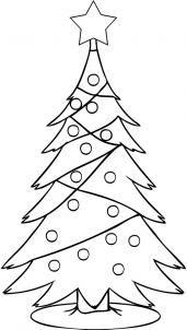 How To Draw A Christmas Tree Step 4 Christmas Tree Drawing Tree Coloring Page Christmas Drawing