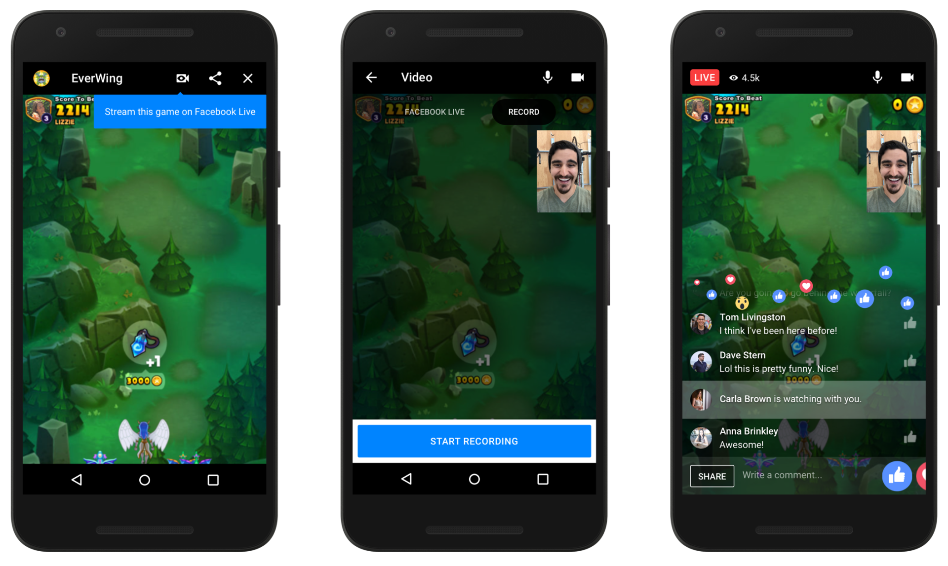 Facebook Messenger Instant Games to Get Live Streaming