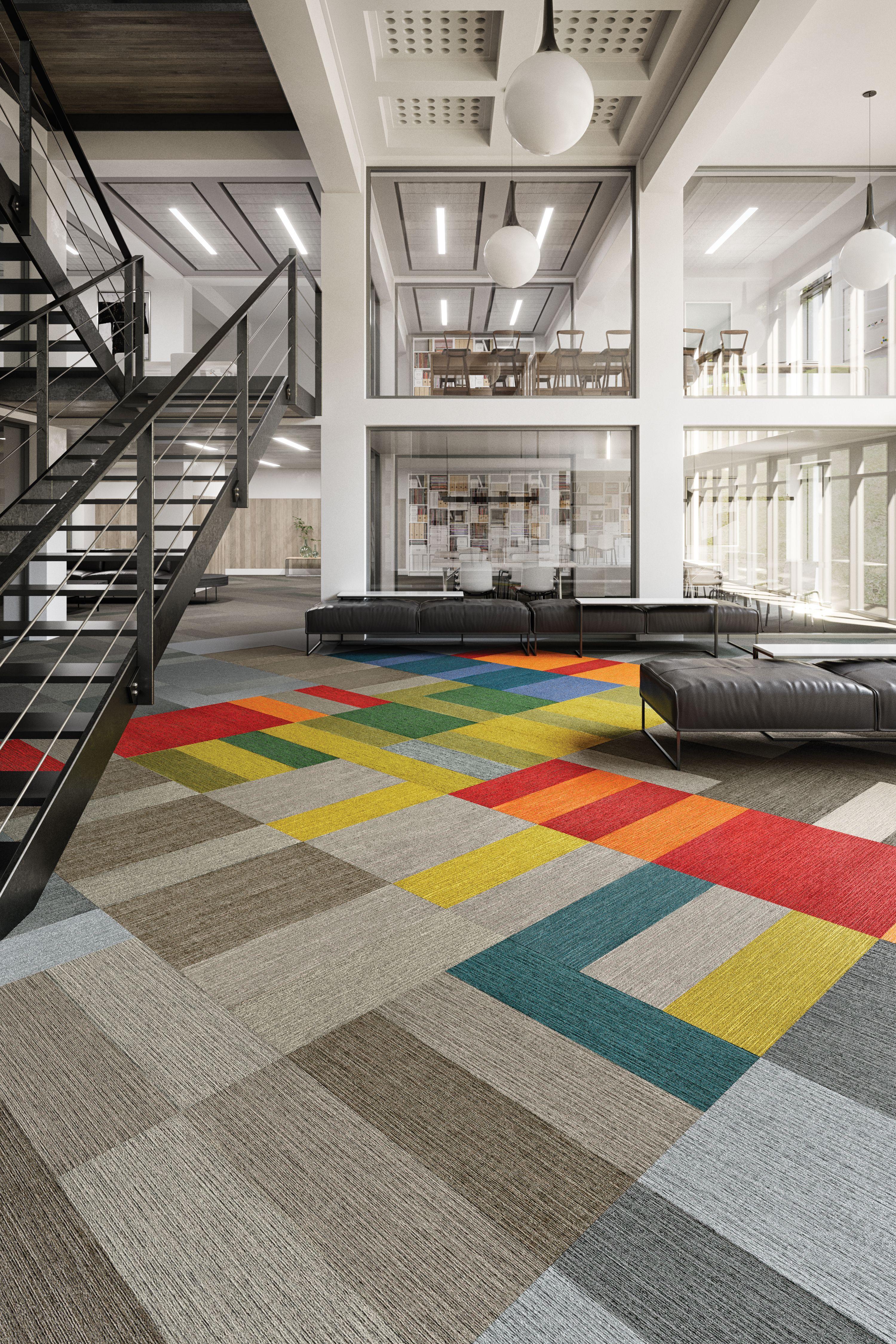 Color Balance Carpet Tile Flooring for Education Spaces  Carpet
