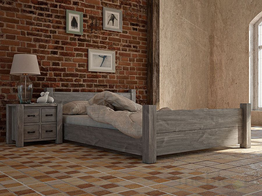 Łóżko drewniane rustykalne Country 27 180 cm, SEART furniture - Meble