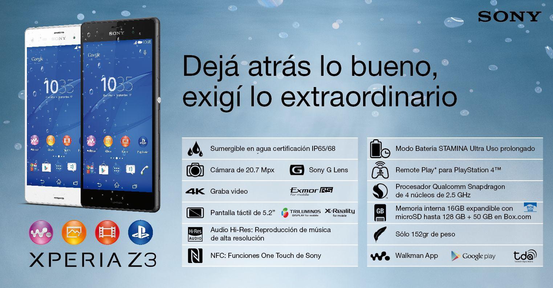 AppsUser: Sony presenta el Xperia Z3 en Argentina
