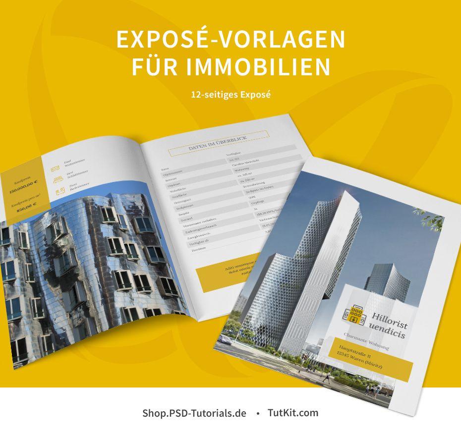 Zwölfseitige Exposé Vorlagen Für Immobilien Häuser Und