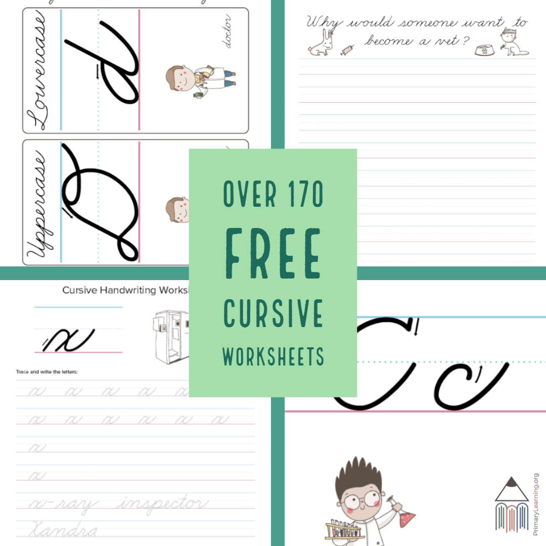 Over 170 Free Cursive Worksheets For Primary Students