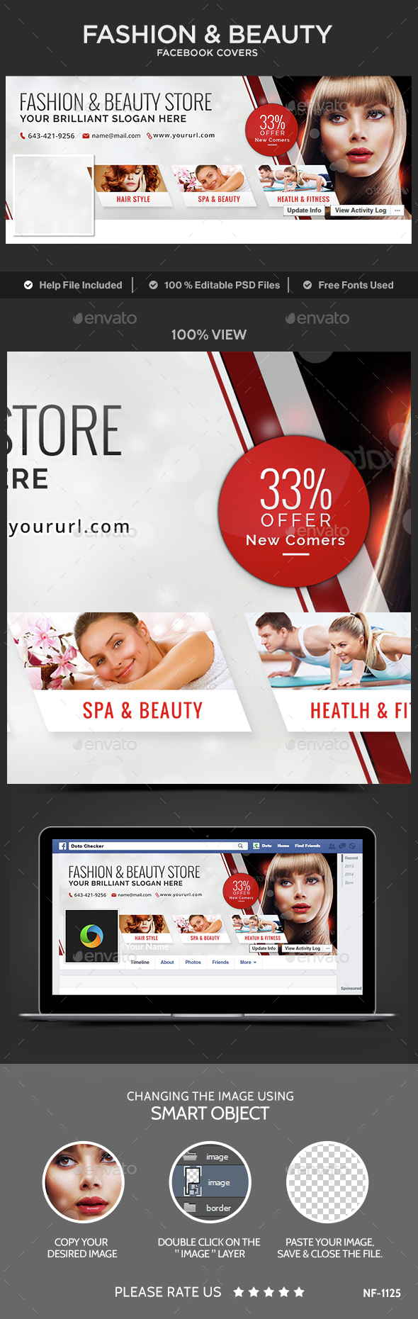 Fashion Beauty Facebook Cover Template Psd Download Here Http