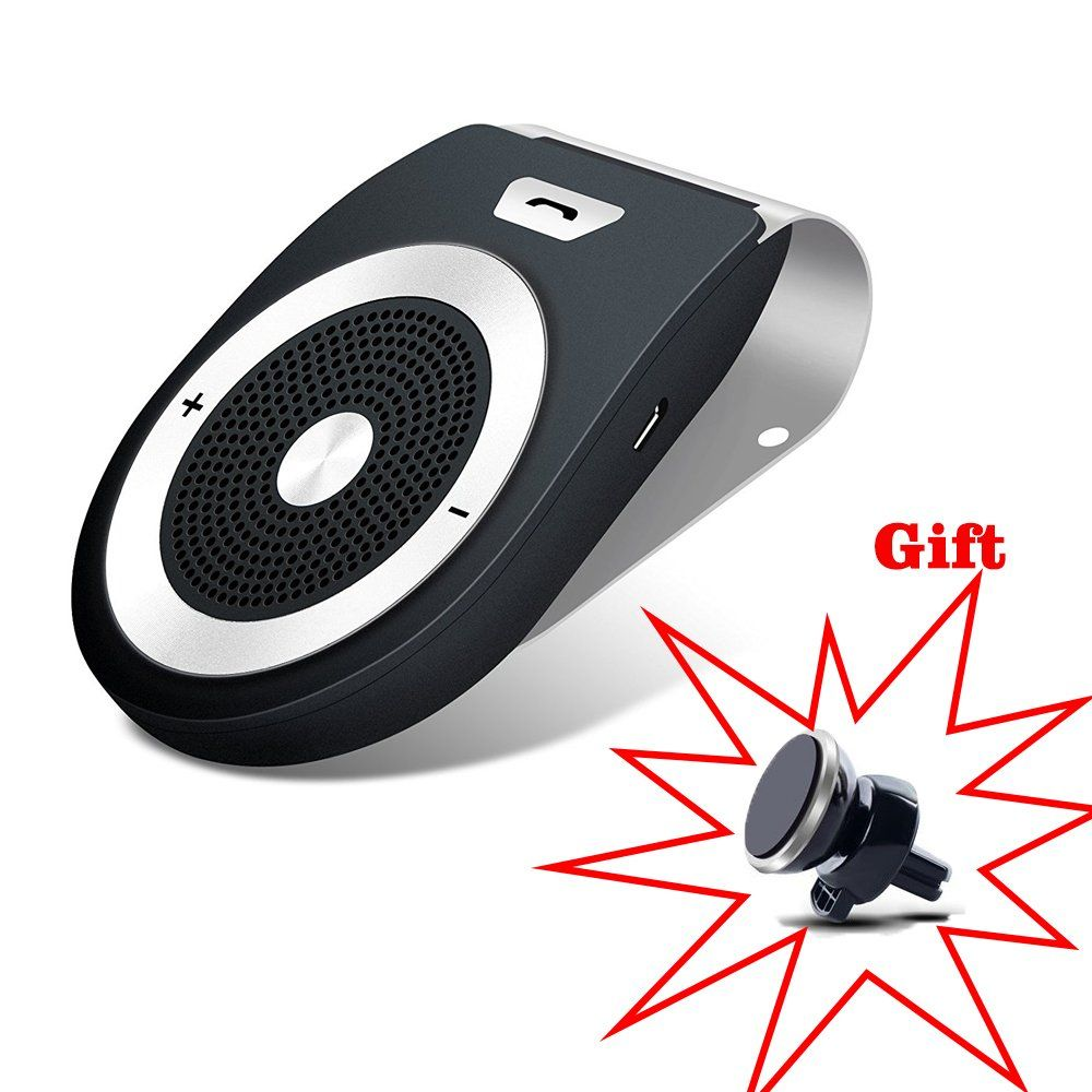 Bluetooth Car Speaker Handsfree Bluetooth Car Kit Speakers Radio for Car  Stereo Sun Visor Air Vent with Wireless Bluetooth In-car Speakerphone  Includes a ... d78355cf842