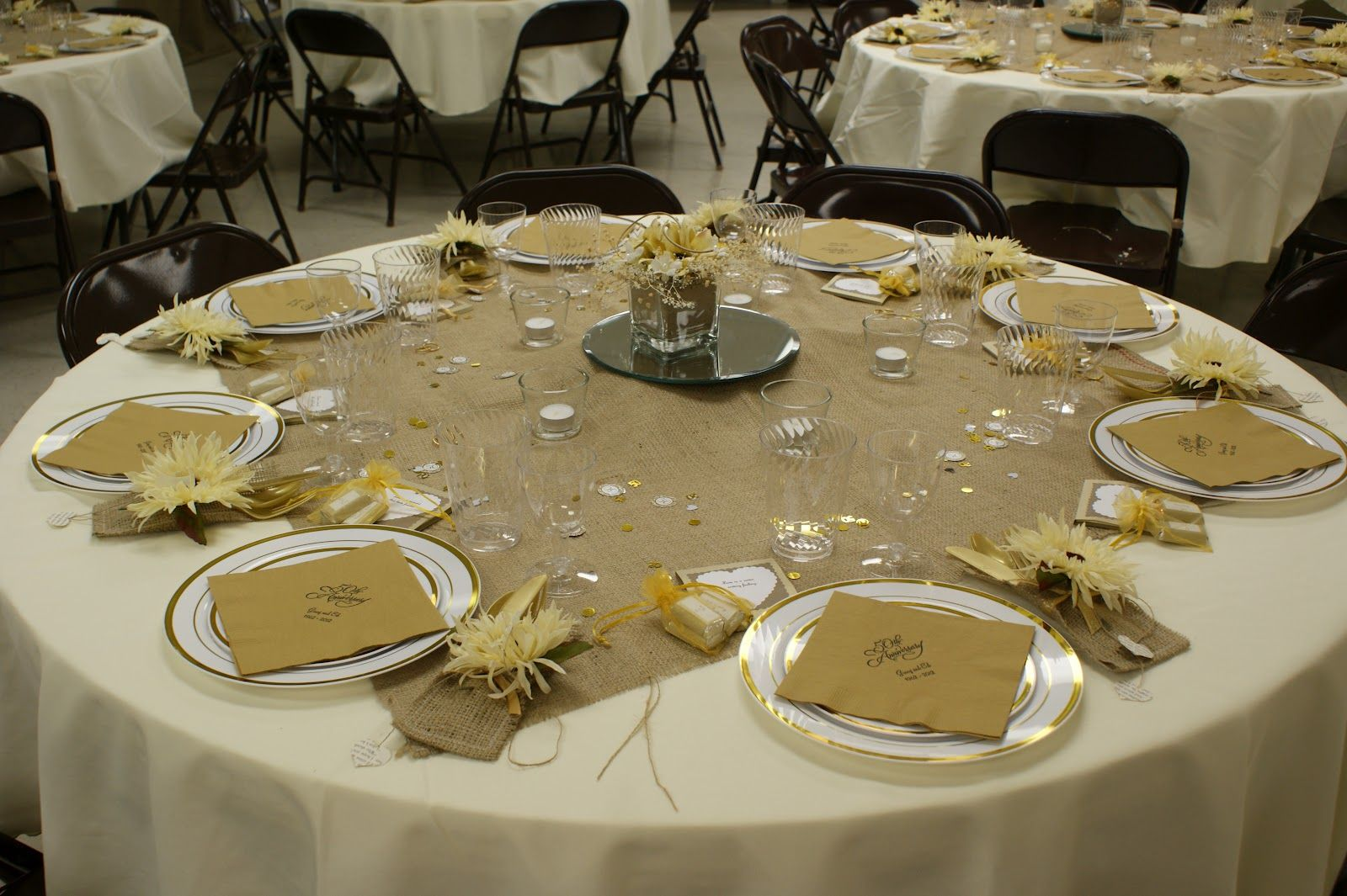 Table Centrepiece Ideas in 2020 50th wedding anniversary