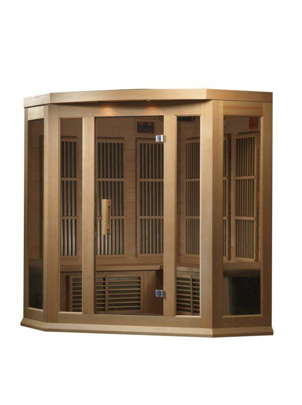 Maxxus Series 3 Person Corner Low Emf Far Infrared Sauna