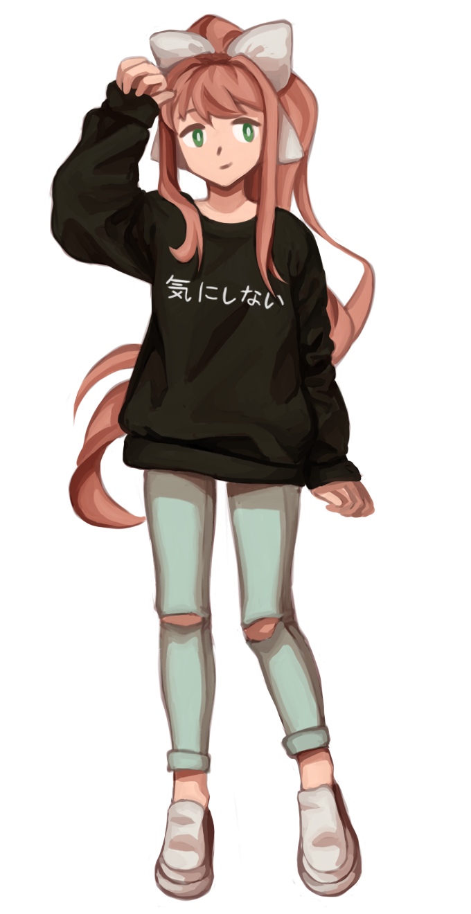 Casual Monika by Elzok-Bloedrooi - DDLC | Doki doki literature club | Pinterest | Literature ...