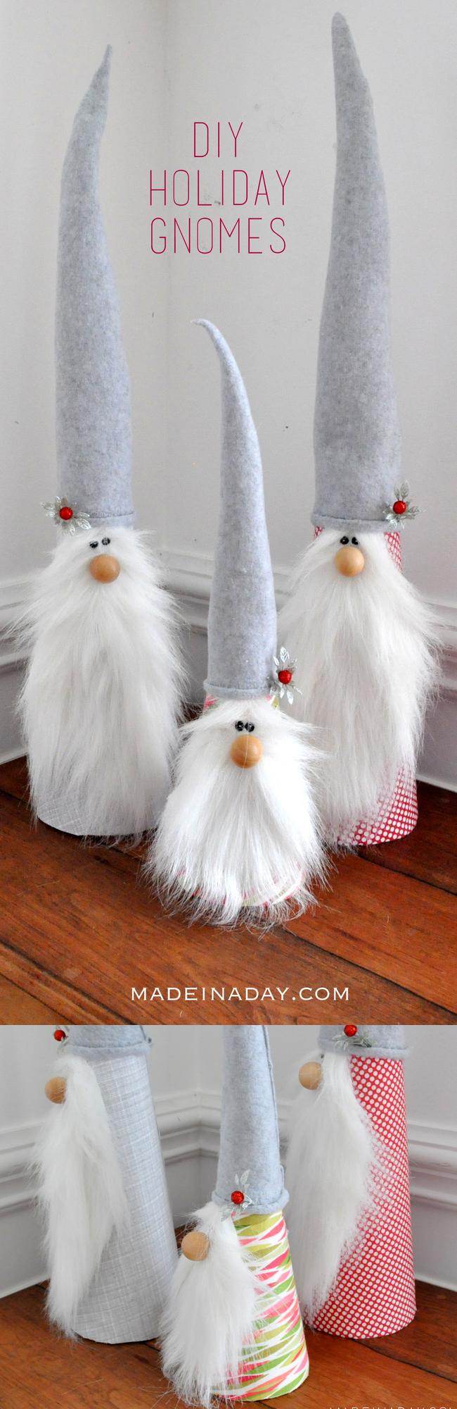 DIY Holiday Gnomes Kerstvakantie, Ideeën voor