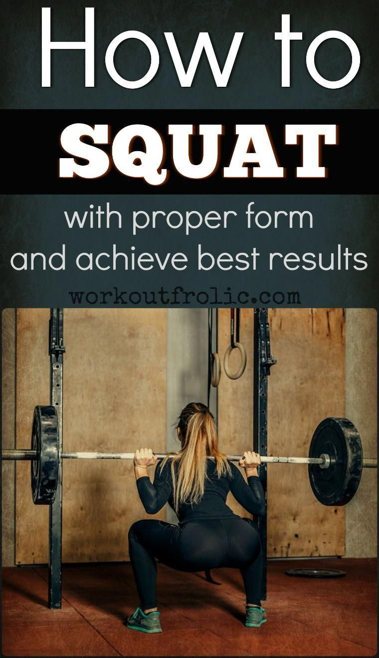 How to maintain proper form while doing squats. fitness