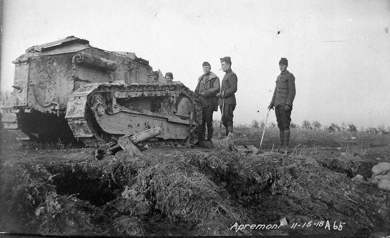 Renault Ft After A Direct Hit To The Tower