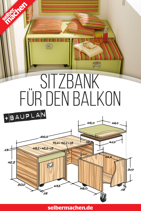 Photo of Sitzbank für den Balkon: Gratis-Anleitung!