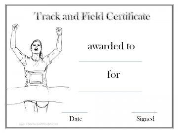 Black and white track and field award black and white track and field award award certificatescertificate templatesonline yadclub Images