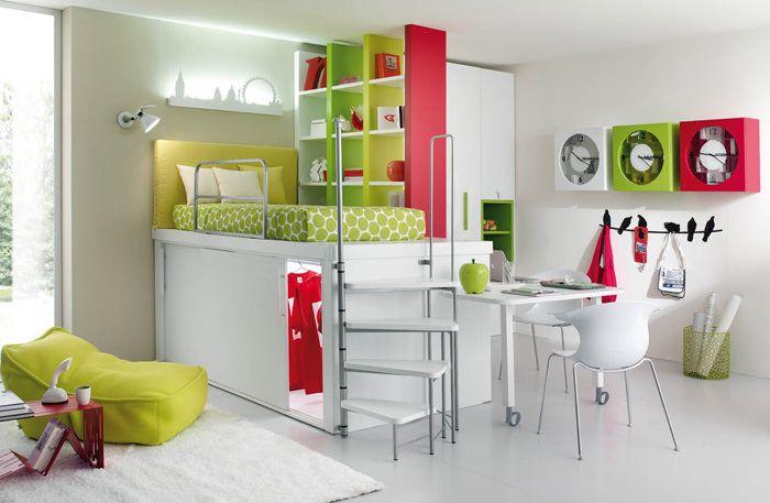 habitacion juvenil chica espacios pequeños   Habitación Niñas ...