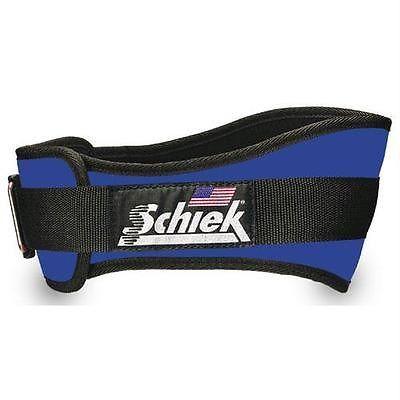 NEW Schiek Model 2006 Nylon Royal Blue Weightlifting Belt Patented Velcroclosure
