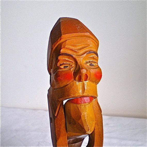 Folk Art Vintage Nutcrackers Home Decor Gnome Hand Carved Black Forest