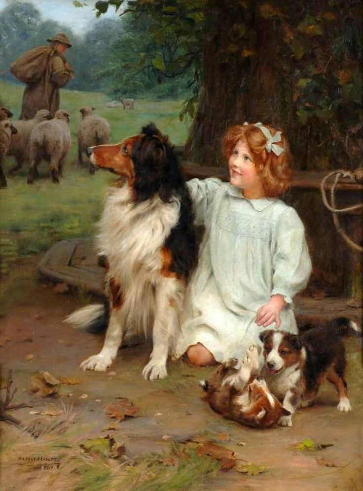 Artist John Elsley Uploaded To Pinterest Dog Paintings Dog