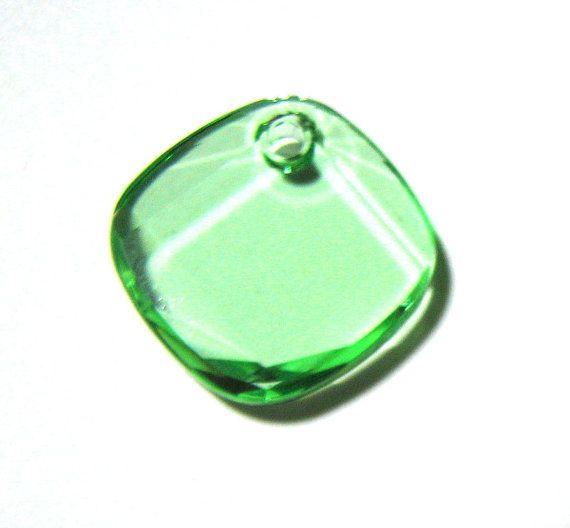Swarovski Crystal Crysolite Square Drop bead by catsarelove, $2.55