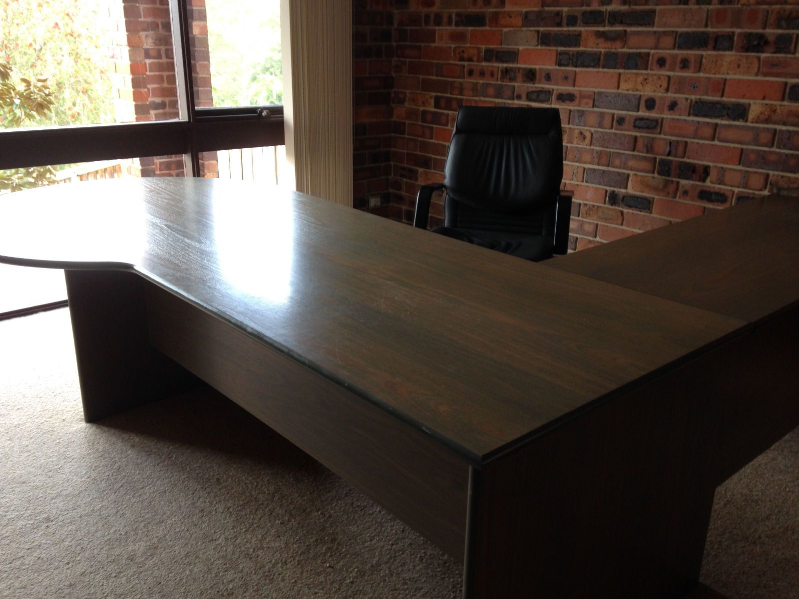 Executive office table with glass top a fabulous executive desk in ryde nsw  ebay  desks  pinterest
