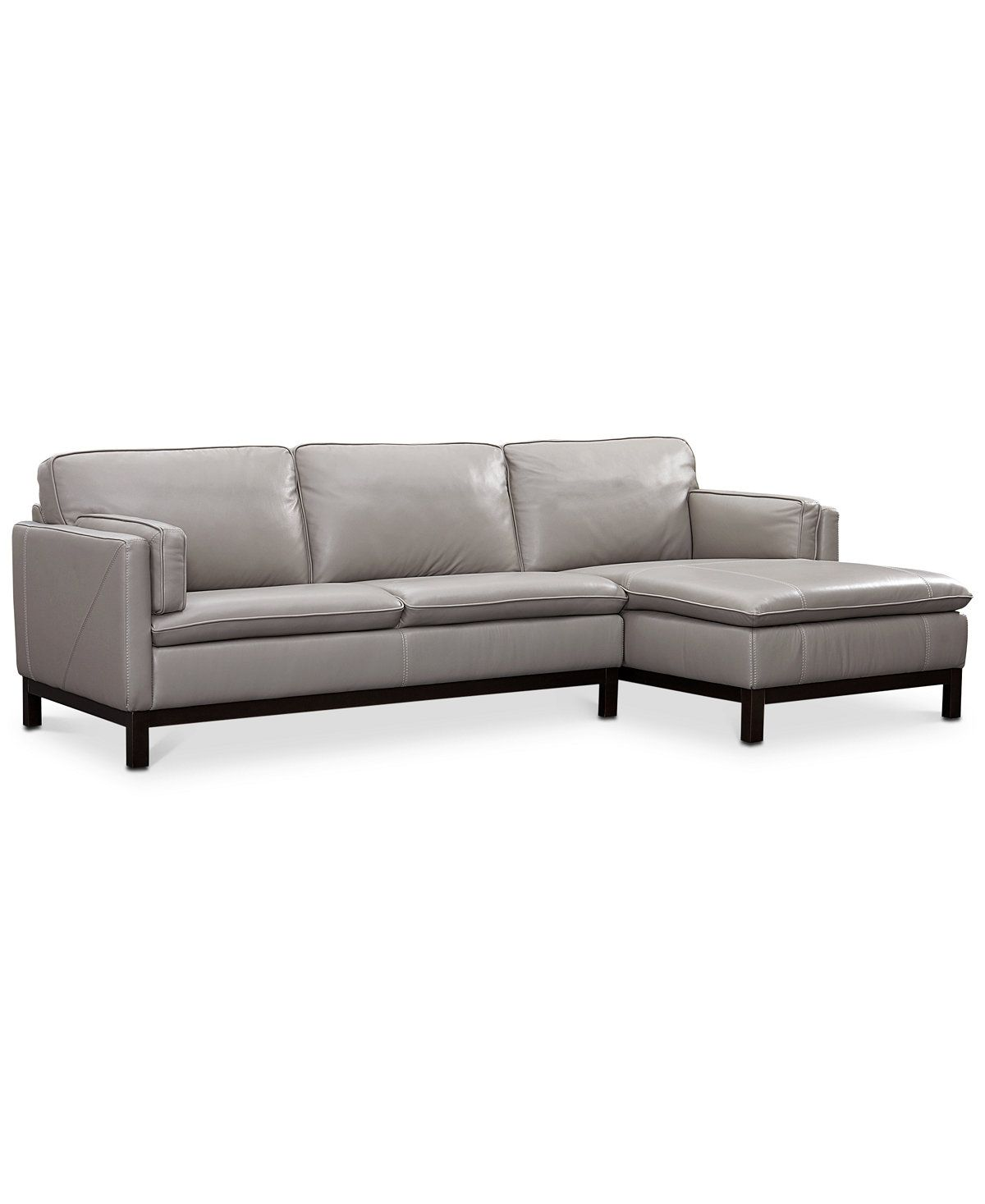 Ventroso 2 Pc Leather Chaise Sectional Sofa Created for Macy s