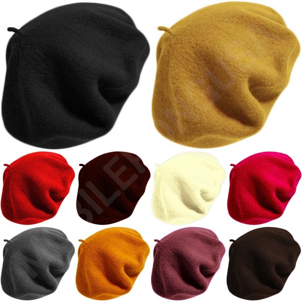 New Unisex Cap 100 Wool French Artist Berets Tam Beanie Slouch Hat Women S Mens Hats Wool Berets Hats For Sale