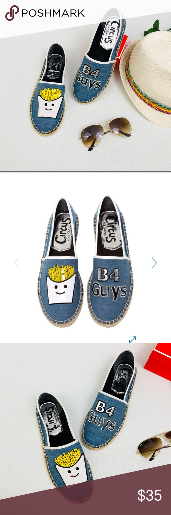 """954ea6ceb CIRCUS BY SAM EDELMAN Leni French Fry Espadrille Fries before guys """"fries  B4 guys"""""""