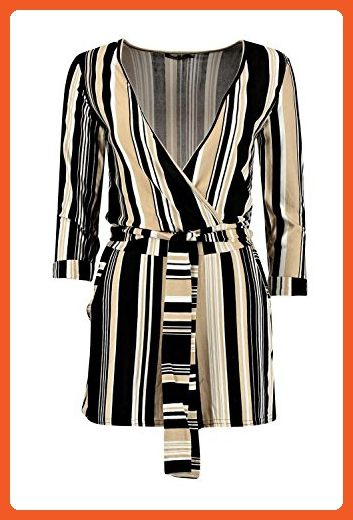 1dabb74dcc1 Boohoo Womens Lucia Striped Relaxed Self Belt Playsuit in Multi size 6 -  Sandals for women ( Amazon Partner-Link)
