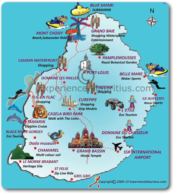 Carte situant l'aéroport de Maurice | Voyage | Pinterest | Maurice