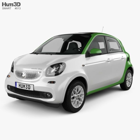 Smart Forfour Electric Drive 2017 Fully Editable And Reusable 3d