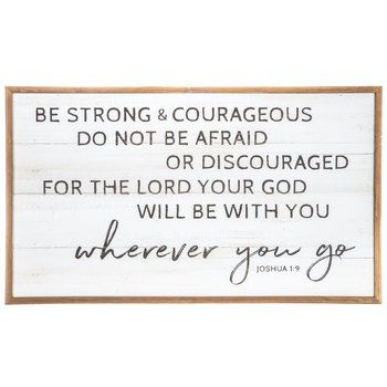 Joshua 1 9 Wood Wall Decor Hobby Lobby 1469360 In 2020 Wood Wall Decor Wall Decor Online Be Strong And Courageous