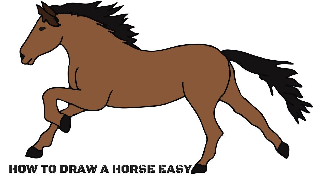 How to Draw a Horse Easy Step by Step For Kids | Horse ...