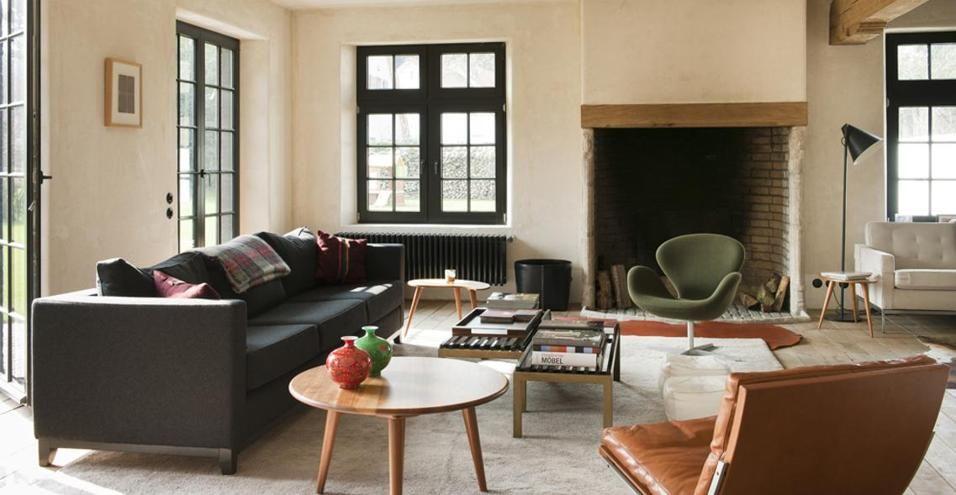 Soggiorno Contemporaneo ~ In belgio uno chalet contemporaneo in soggiorno è rimasto il