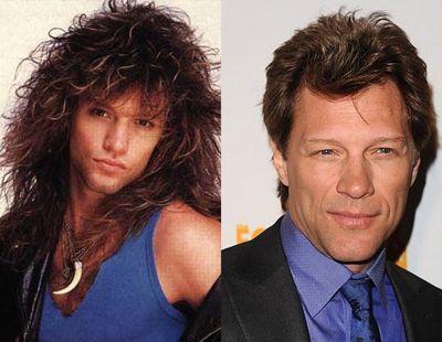 Jon Bon Jovi, then and now  He epitomized the