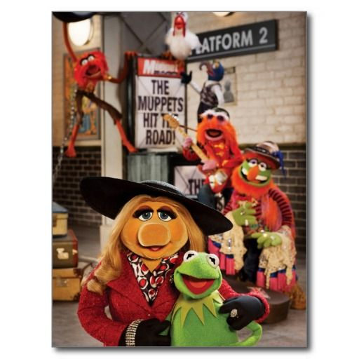 Quotes On The Muppets As Adult Oriented Characters: The Muppets Most Wanted Hits The Road! Postcard