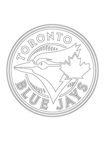 Toronto Blue Jays Logo coloring page from MLB category Select from - new coloring page of a hockey player