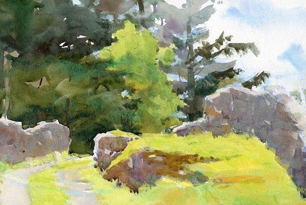 Catherine Gill Watercolor Landscape Watercolour Inspiration