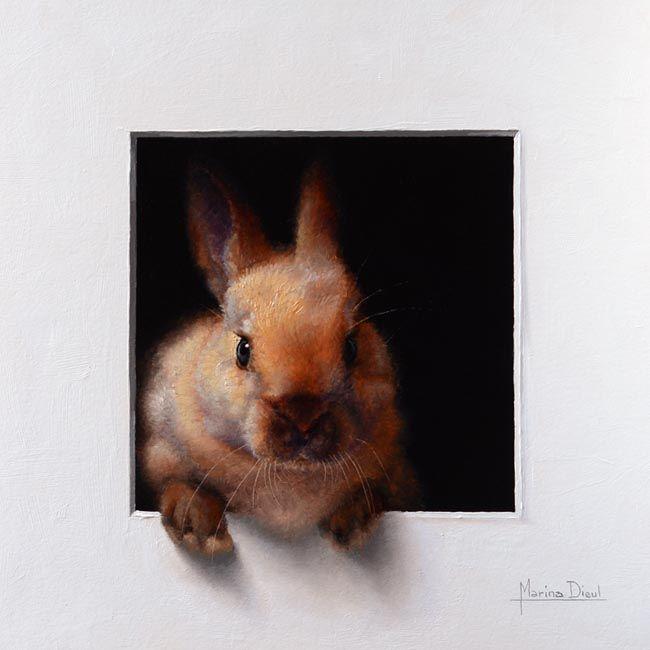 trompe l'oeil painting of rabbit