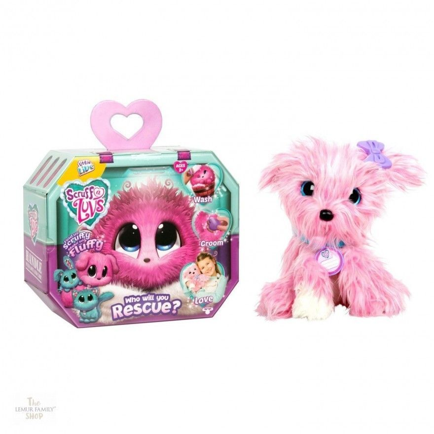 Luv Scruff A Pink Puppy Character Brush Hair Clip Toys For Kids