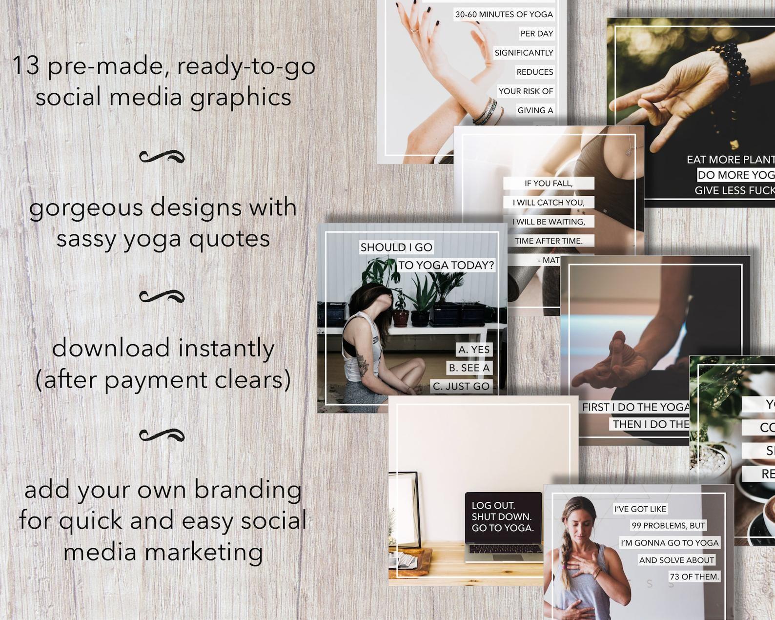 Social Media Posts Yoga Memes Social Media Graphics Etsy In 2021 Social Media Post Social Media Graphics Social Media