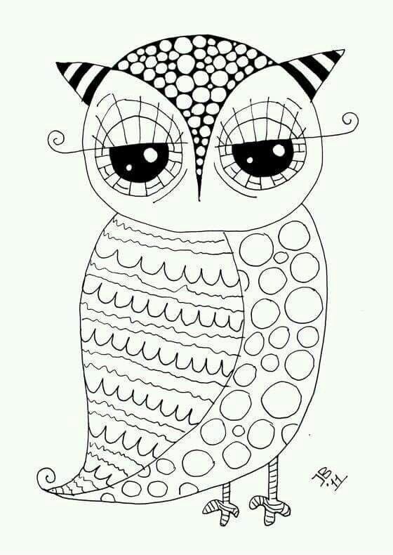Pin by Judy Bregante on LECHUZAS Y BUHOS | Owl coloring ...