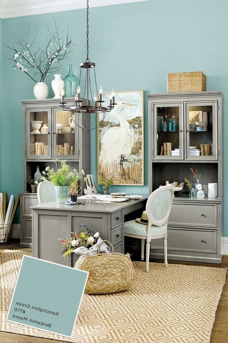 Paint Colors Blue Home Office Ideas Boldly Accented Home ...