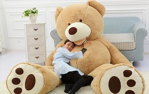 "78/"" GIANT HUGE BIG NO FILLER ANIMAL PURPLE TEDDY BEAR PLUSH SOFT TOY 200CM"
