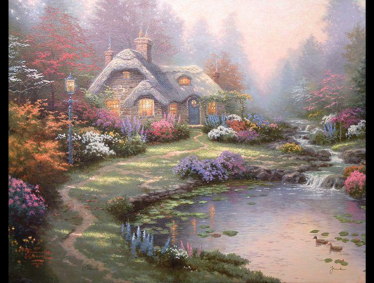 thomas kinkead  cottages on pinterest | Thomas Kinkade - Everett's Cottage