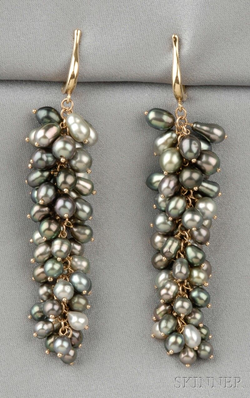 18kt Gold and Keshi Pearl Earpendants