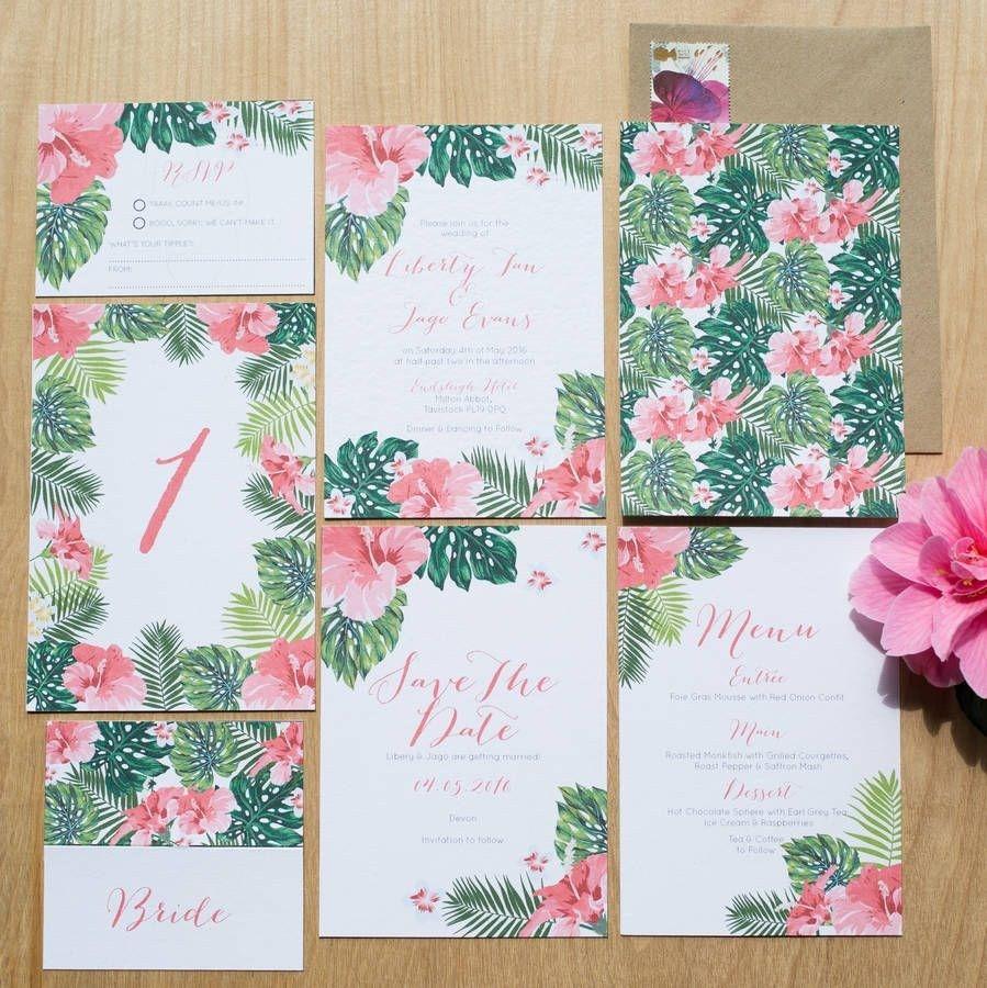 Hawaiian wedding invitations tropical hawaiian wedding