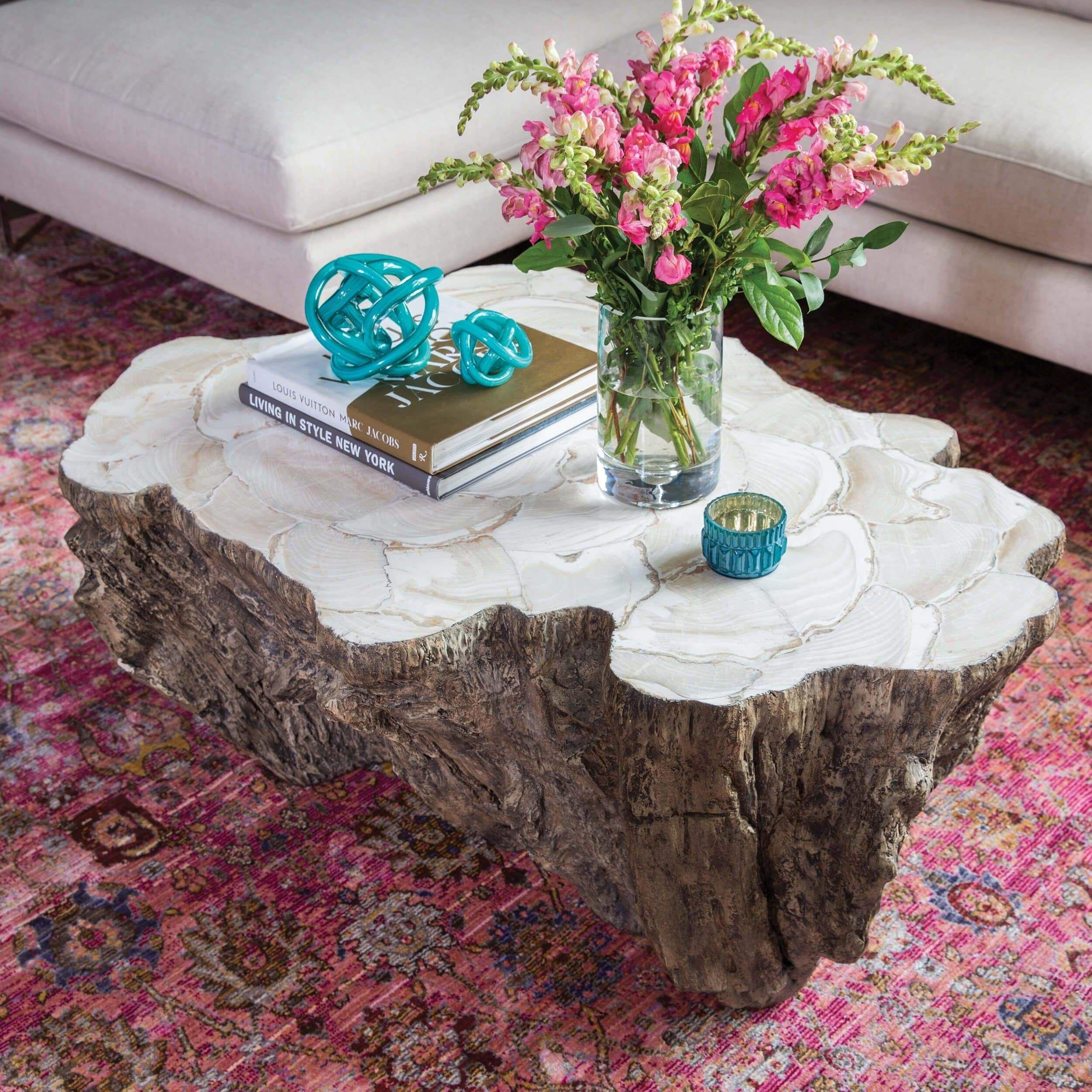 Chloe Fossilized Clam Lava Coffee Table Coffee Table Stump Coffee Table Tree Coffee Table [ 2500 x 2500 Pixel ]