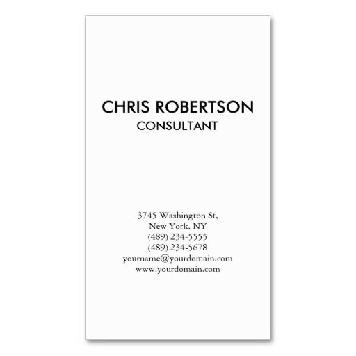 Vertical Plain Black and White Business Card. Make your own business card with this great design. All you need is to add your info to this template. Click the image to try it out!