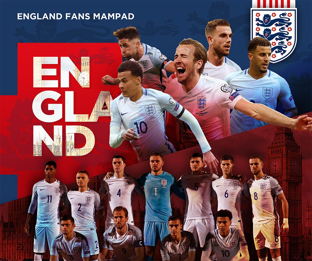 71771351d Poster Design for England Football Team. FIFA World Cup Russia 2018 -  England Fans Mampad